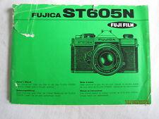Instructions Camera SLR FUJICA ST605N