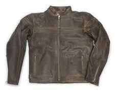 Veste en cuir motard marron antiquité ancien blouson cowboy western