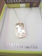 Celtic Astrology Ogham Necklace, .925 Sterling Silver
