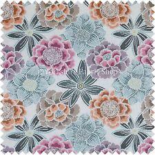 ADORABILE motivo floreale rosa blu arancione colore tessuto qualità FODERA