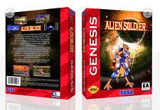 Alien Soldier Sega MegaDrive Genesis US EU Replacement Box Art Case Insert Cover