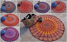 Mandala Round Roundie Beach Throw Yoga Mat Indian Tapestry Wall Hanging Decor