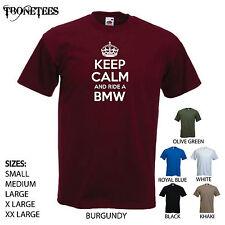 'Keep Calm and Ride a BMW' Motorbike R1200 R, 1000, 1100, Birthday Funny Tshirt