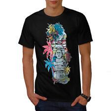 Wellcoda Old Aztec Art Vintage Mens T-shirt, Asia Graphic Design Printed Tee