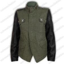 Veste de dames femmes manteau de motard Diamant ALLURE cuir militaire col large