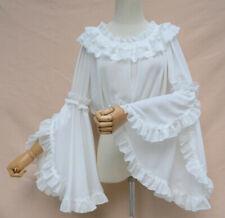 Vintage Lolita Princess Lace Trumpet Sleeves Chiffon Bottoming Shirt Blouse Top