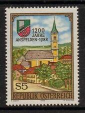 Austria SG2175 1988 1200th aniversario de ansfielden estampillada sin montar o nunca montada