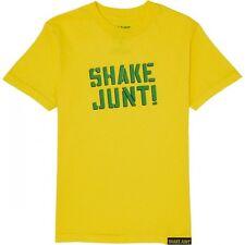 SHAKE JUNT - SPRAY LOGO T SHIRT YELLOW S M L XL - SKATEBOARD BAKER FREE POST