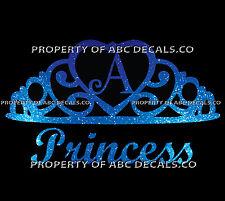 VRS Crown Royal Tiara Queen Princess Heart Love Custom INITIAL A Car Metal Decal