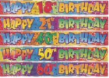 Pancarta De Cumpleaños Guirnalda adultos especial edades Decoración Fiesta