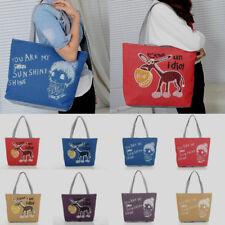 Cute Canvas Shoulder Shopping Bag Casual Women Handbag Ladies Satchel Tote Bag