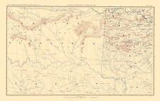 Civil War Map - Indian Territory Arkansas, Texas - Bien 1895 - 23 x 36.44