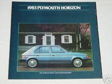 1983 Plymouth Horizon Car Automobile Color Brochure