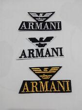 Parche bordado para coser estilo Armani 7/3,5 cm adorno ropa PERSONALIZADA