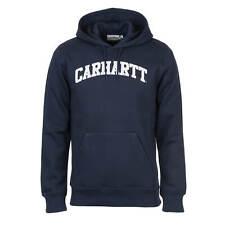 Carhartt Wip Capucha Yale Sudadera Azul Marino Blanco - Hombre con Letras