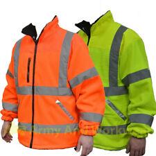 Fleece SUPERIOR Hi Viz Giacca da Uomo Riflettente Sicurezza Foderato Lavoro Cappotto NUOVA CLASSE