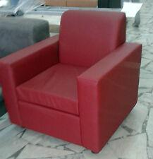 Poltrona Divano 1 posto Divanetto tessuto ecopelle sofà relax sedia 37 colori.