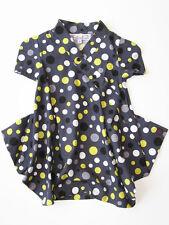 Kidcuteture Toddler and Girls Spring Dress Grey Cotton Retro Dot Print NWT