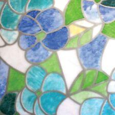 Pellicola Privacy effetto colorato mosaico fiori per Finestre Vetri Autoadesive