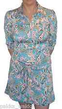 CHENASKI LIGHT BLUE PINK PAISLEY DRESS 60'S MOD RETRO 70'S MINI DRESS MODS SOUL
