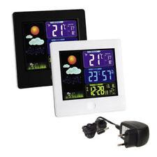 Funk Wetterstation mit Farbdisplay Außensensor Hygrometer Thermometer Wecker
