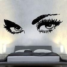 SEXY Occhi Decalcomania In Vinile Adesivo Parete Arte AUDREY HEPBURN camera da letto