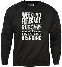 Weekend previsione-Rugby con la possibilità di bere Felpa da uomo