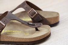 Birkenstock Gizeh Zehensteg Sandale Habana Fettleder Größe 35-46 Fußbett normal