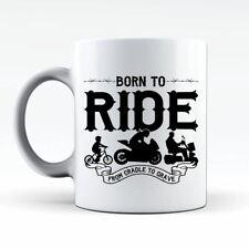 Born To Ride Biker Motorcycle Funny Coffee Tea Cup Cafe Mug Gift Idea