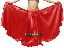 Red - Satin 16 Yard Double Circle Skirt Belly Dance Gypsy Tribal Flamenco