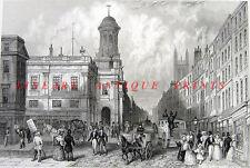 London ROYAL EXCHANGE Cornhill Threadneedle Street ~ 1851 Art Print Engraving