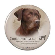 Chocolate Lab Labrador Dog Breed Kitchen Refrigerator Locker Button Magnet