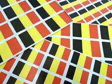Belgique autocollantes Drapeau étiquettes auto-adhésif drapeau Stickers