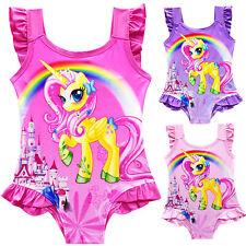 RAGAZZA Unicorn Estate Costume intero CARTONE ANIMATO da Nuoto bagno spiaggia