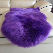 Sheepskin Mat Faux Fur Wool Carpet Home Decor Fluffy Plain Skin Fur Area Rug Pad