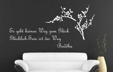 Wandtattoo Aufkleber Wandbilder Zitate über Glück Buddha