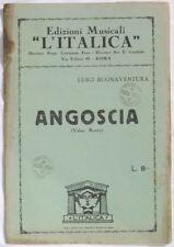 1932 LUIGI BUONAVENTURA ANGOSCIA SPARTITI ORCHESTRA