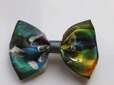 Barrette Noeud Accessoires Cheveux Satin Enfant Femme Fait Main Multicolore