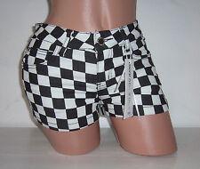 SeXy Jeans HOT PANTS Shorts Hose KARO Karos W26 W27 W28 W29 W30 34 36 38 40 42