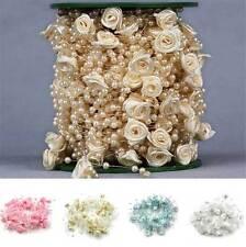 ROSE FLOWER PEARL GARLAND/STRING- WEDDING DECORATION, MANZANITA / CANDELABRA DIY