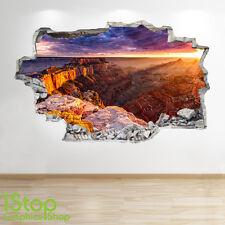 Grand Canyon Coucher de soleil mur autocollant 3D LOOK - chambre salon nature