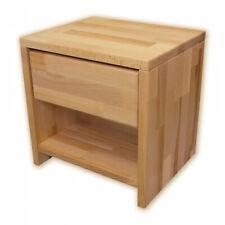Bubema Nachttisch, Buche Massivholz, montiert, verschiedene Farben