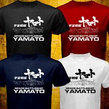 New Star Blazers Space Battleship Yamato Black Red Navy White T-shirt