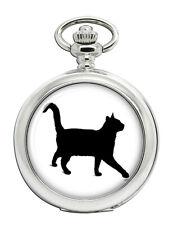 Black cat Pocket Watch