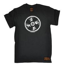 Engranaje de ciclismo pared de la muerte ciclista Camiseta andar en bicicleta Divertido Regalo De Cumpleaños