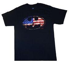 BATMAN - USA Flag Logo - T SHIRT M-L-XL Brand New - Official T Shirt