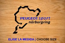 NURBURGRING PEUGEOT SPORT CIRCUIT VINILO PEGATINA VINYL STICKER DECAL AUFKLEBER