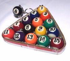 Billiard Pool Ball Key Chain Varied Colors - 3 pack / 6 pack / Full Case