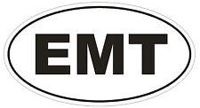 EMT Oval Bumper Sticker or Helmet Sticker D1850 Euro Oval  Emergency Medical Tec