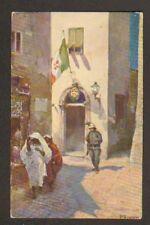 TRIPOLI (LIBYE) MILITAIRE CASQUE BLANC , POSTE ITALIENNE avant 1904